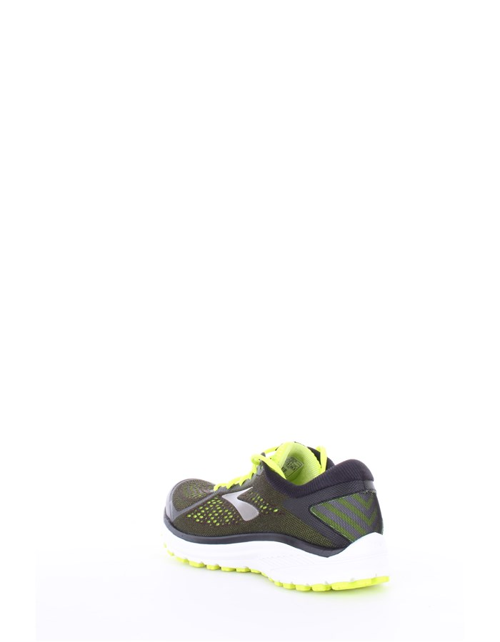 BROOKS Running Shoes 079-black-lime