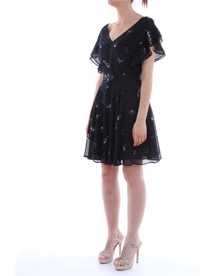 Guess Jeans Dress Pzc9-dots-black