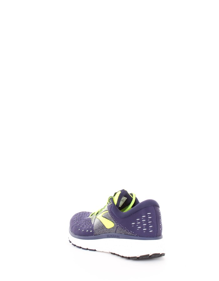 BROOKS Running Shoes 426-blue-yellow