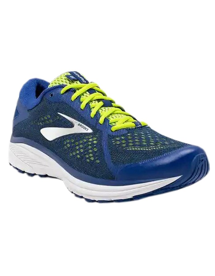 BROOKS Running Shoes 407-blue-yellow-lime
