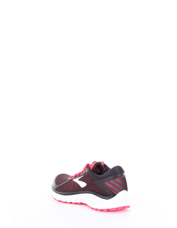 BROOKS Running Shoes 090-Black-Fuchsia