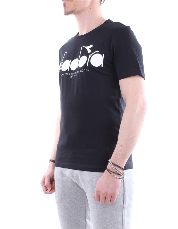 Diadora T-shirt C7306-black-white