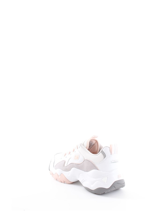 Skechers Running Shoes Wgpk-white-gray-pink