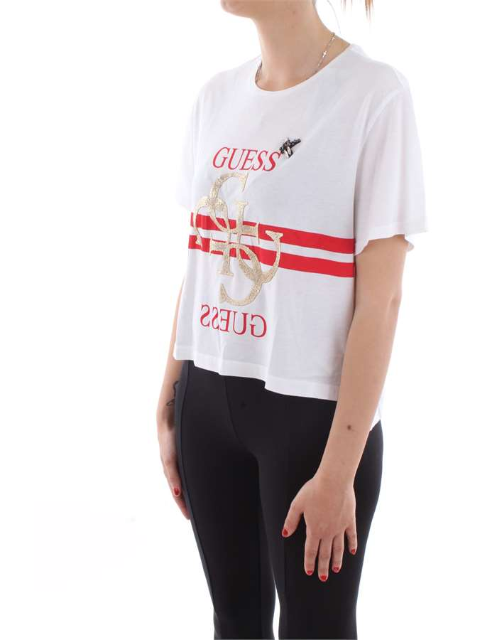 Guess Jeans T-shirt Twht-bianco
