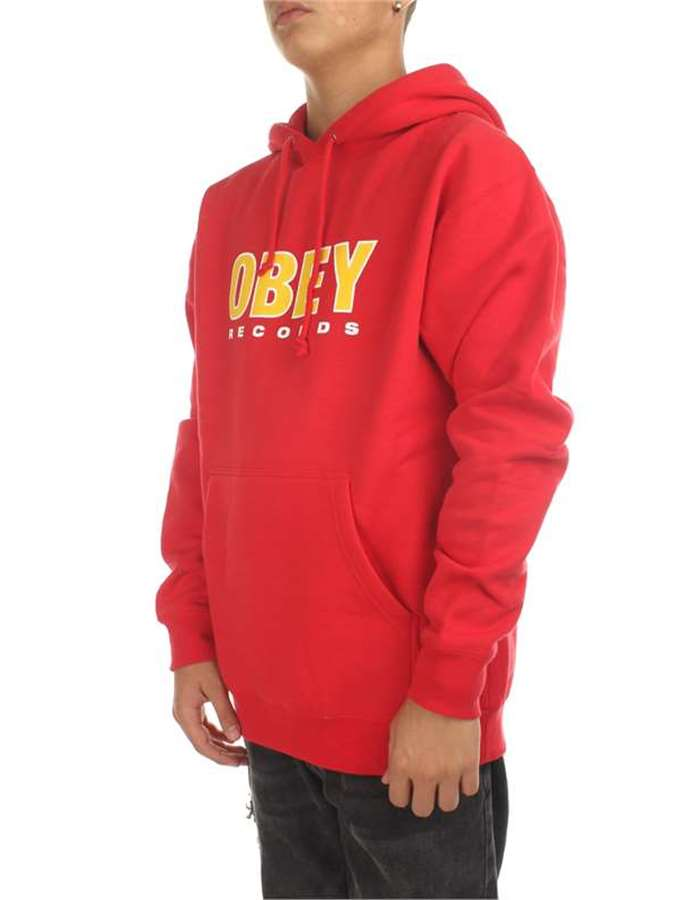 Obey Felpa Red-rosso
