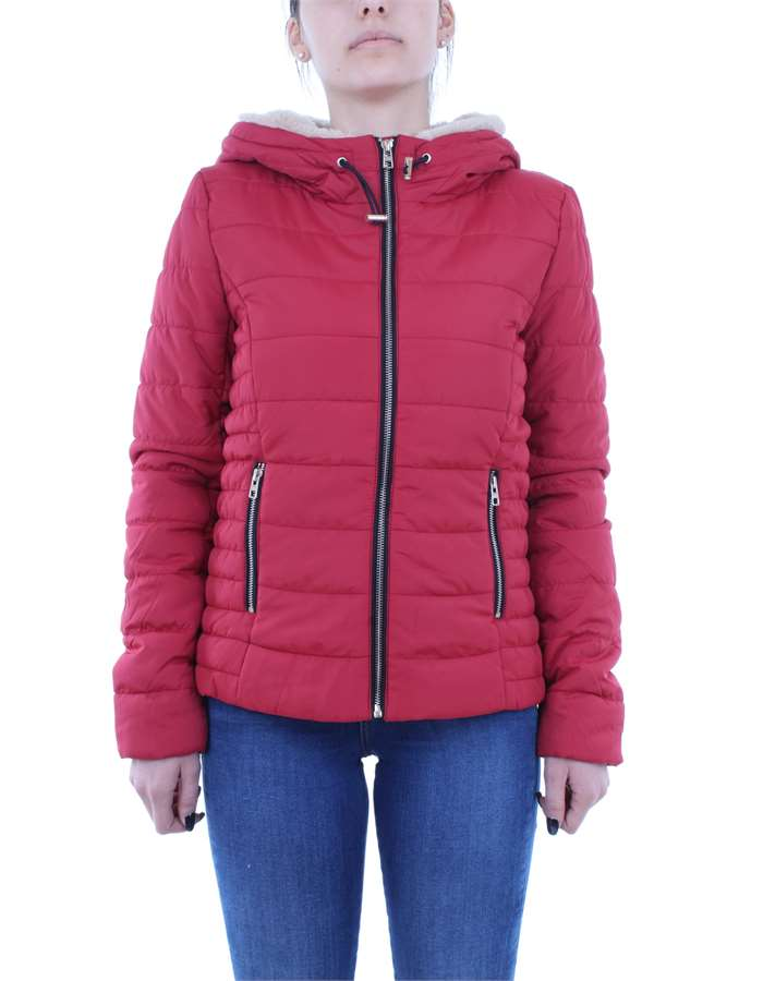 ONLY Abbigliamento Donna Giubbotto Rosso 15156499-SHELLY-SHORT-HOODED-JACKET