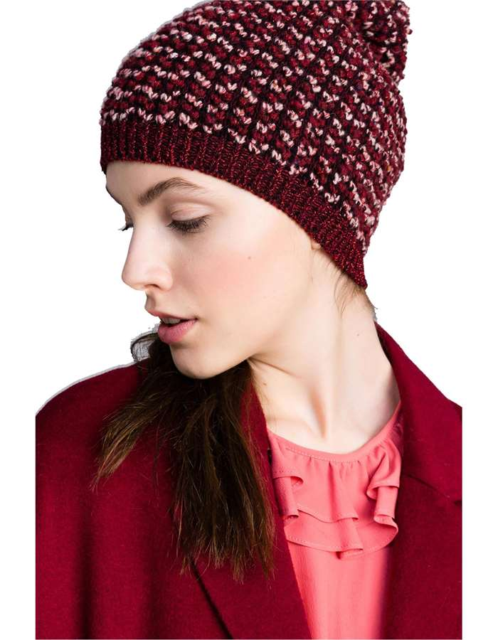 Twin-Set Hat 00020-burgundy
