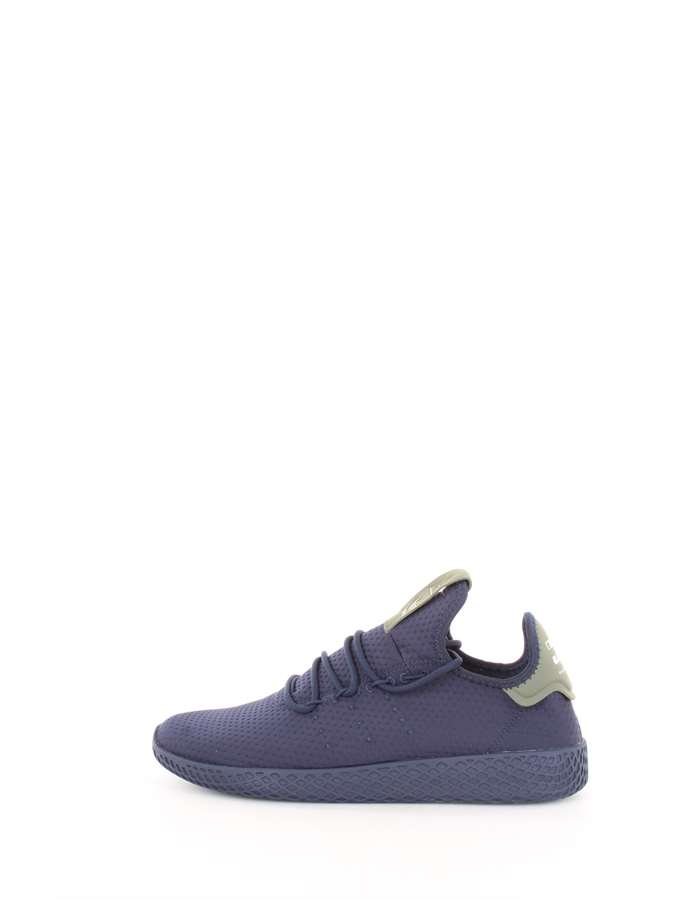 Adidas Originals Scarpe Uomo Sneakers Blu-verde B41807-PHARRELL-WILLIAMS-TENNIS-HU
