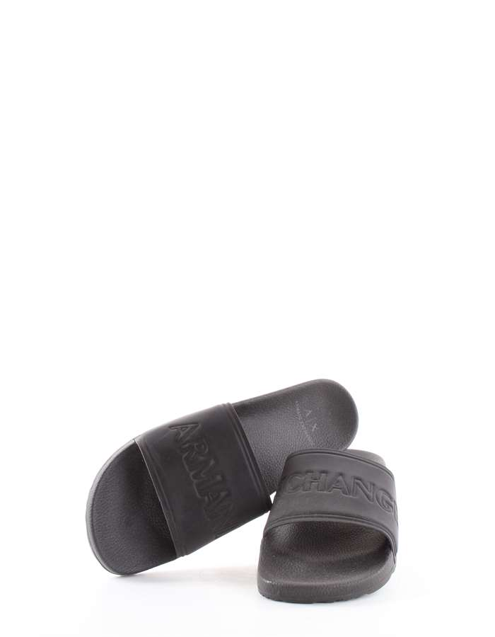 Armani Exchange Slippers Black