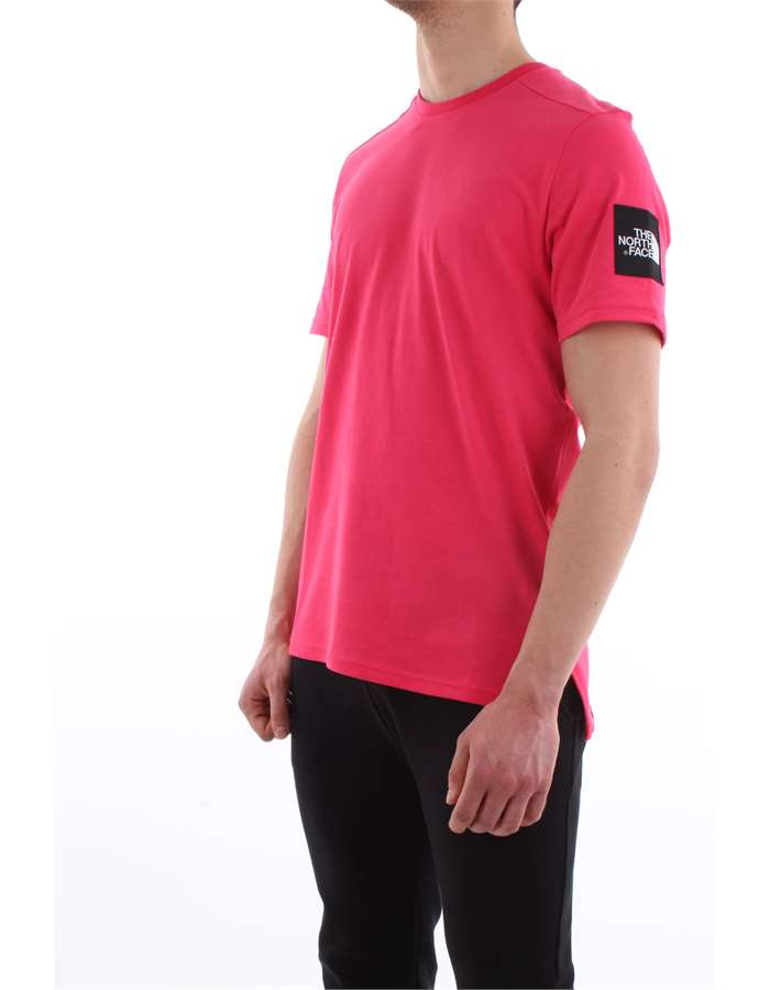The North Face T-shirt Zcx-rosso-lampone