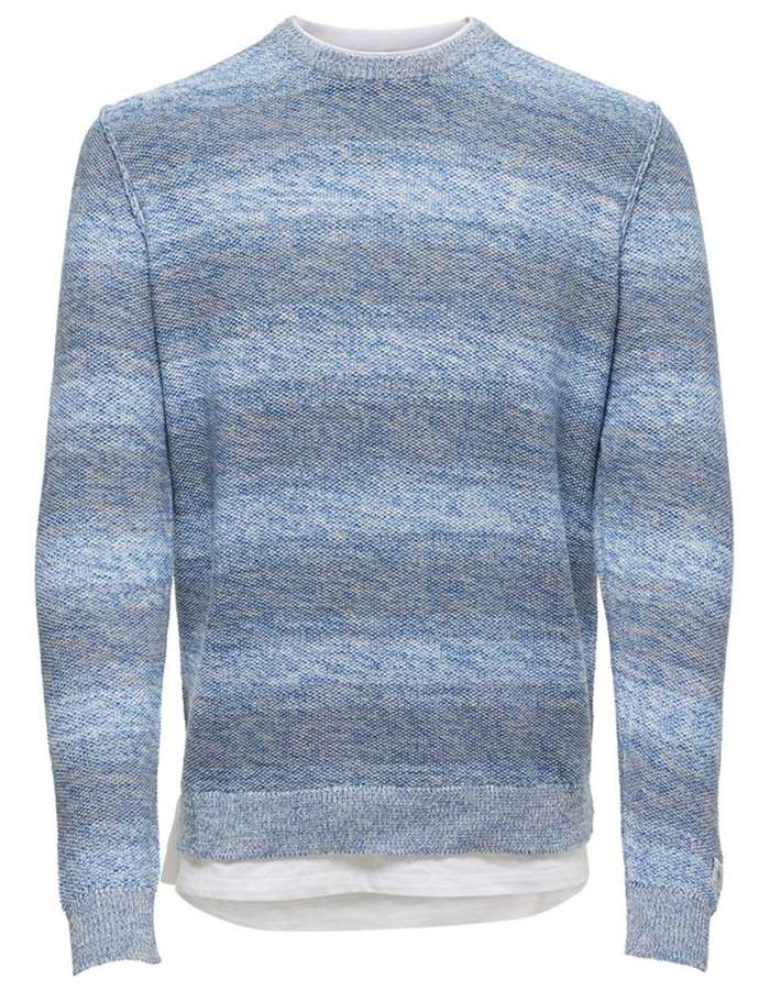 ONLY&SONS Maglia Righe-blu-imperial