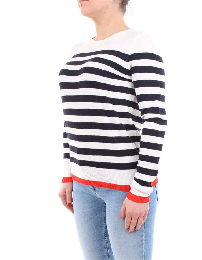 VERO MODA Shirt White-striped-blue