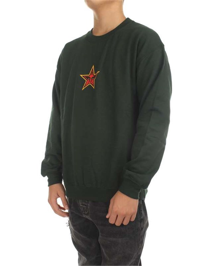 Obey Clothing MenSweatshirtFor-green-forest224180241-OBEY-STAR-FACE