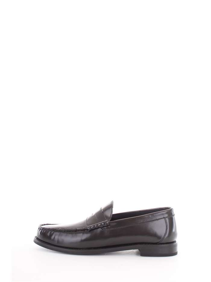 Base London Shoes Loafers 012-Black SM01012-STRIKE-HI-SHINE